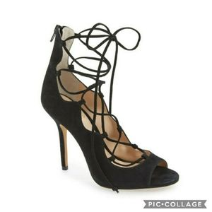 Vince camuto sandria lace up heels 6.5